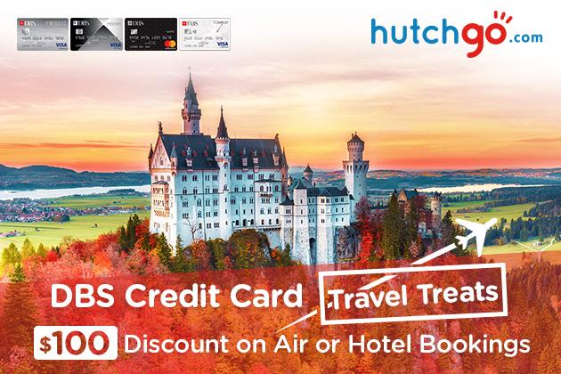 ✈ hutchgo.com x DBS Credit Card Instant HK$100 Off ✈
