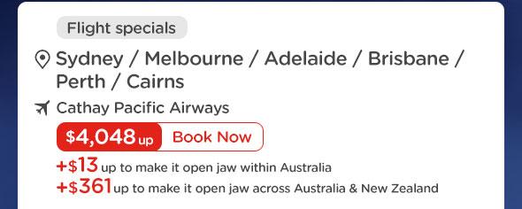 Australia tickets at $4,048 up
