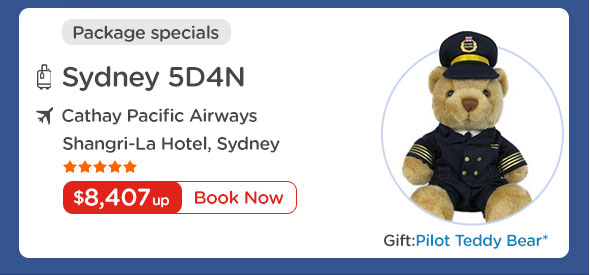 Sydney 5D4N $8,407 up