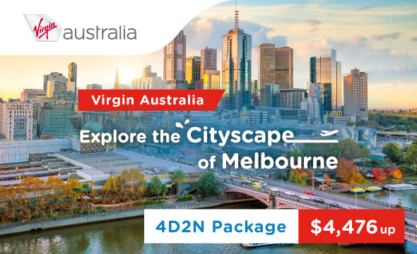 Explore the cityscape of Melbourne, 4D2N Package from $4,476 up!